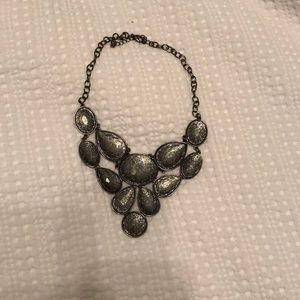 Charcoal gray statement necklace